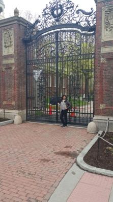 Harvard Main Campus gate- Harvard Square