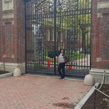 Harvard Main Campus gate- Harvard Square