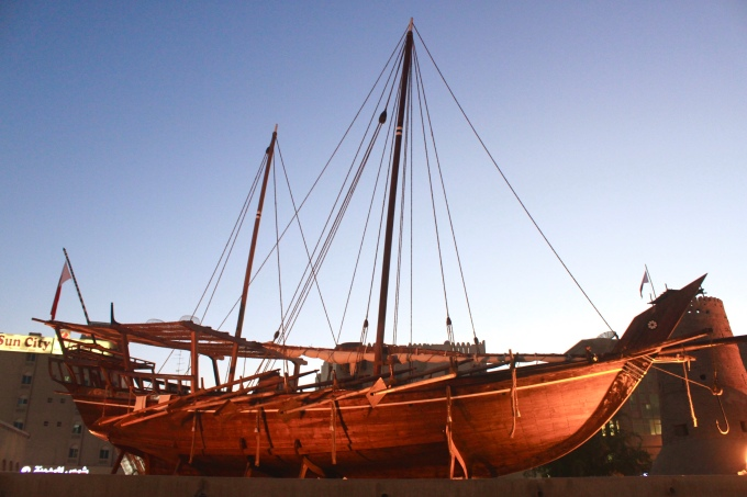 Dhow at Dubai History Museum
