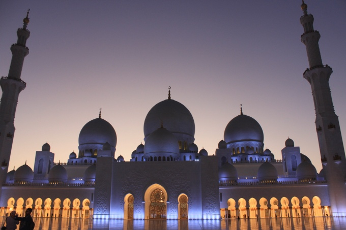 Sheikh Zayed Mosque (After Sunset), Abudhabi