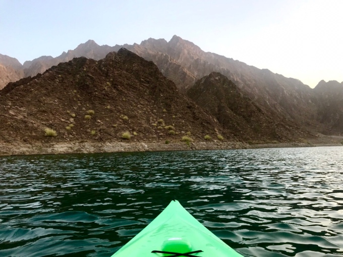 Kayaking in the Hatta Dam