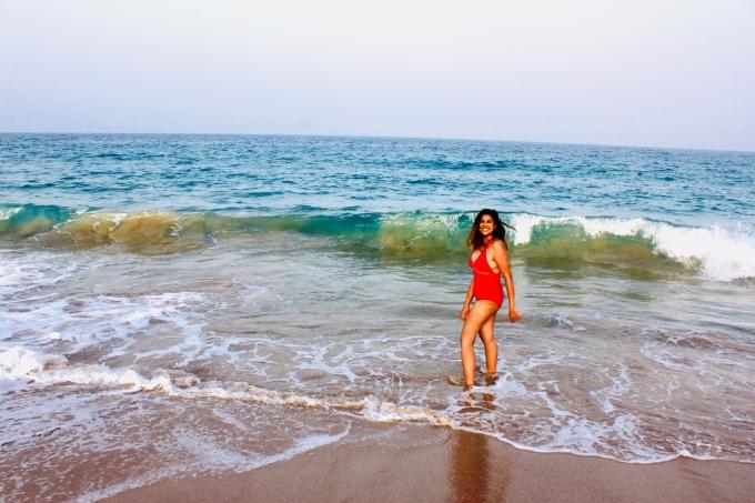 Enjoying the beach