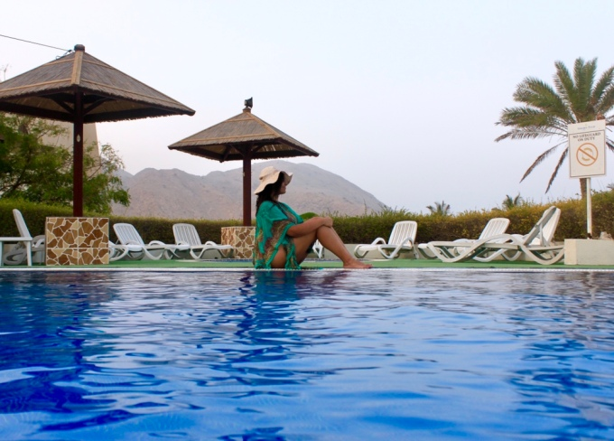 Relaxing by the pool, GTR, Dibba