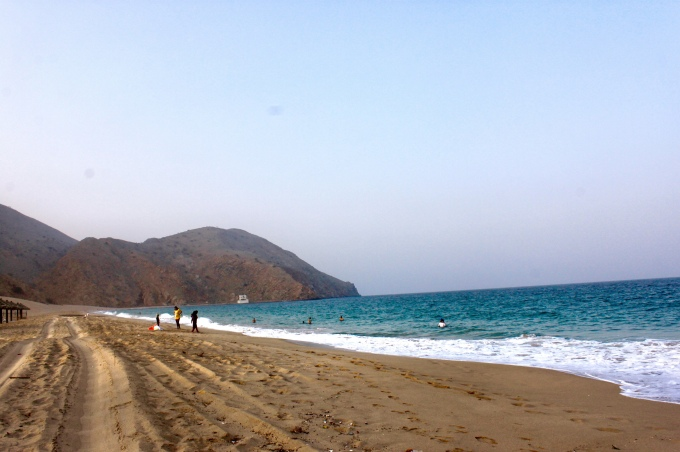 The Hajar Mountains and Gulf Shore