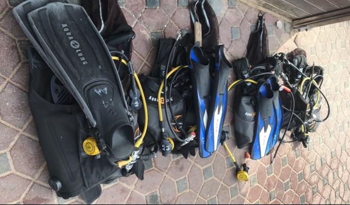 Scuba gear assembled