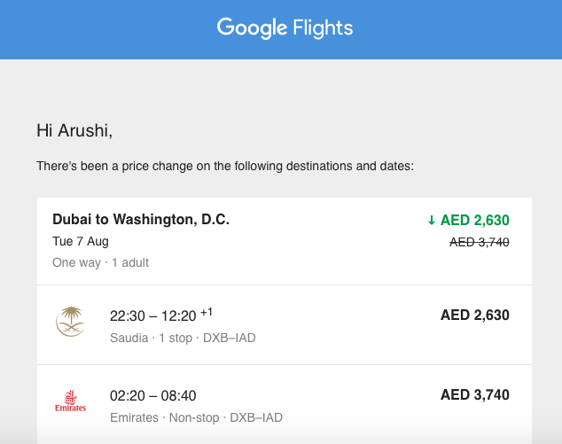 Tracking Google Flights