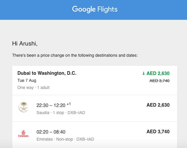 Tracking Google Flights