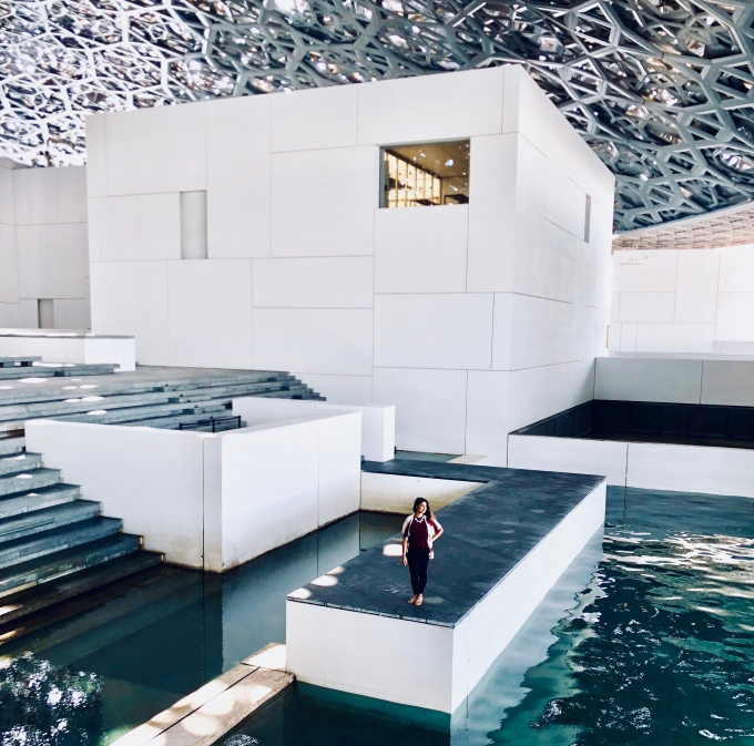 Under the dome, Louvre Museum Abu Dhabi