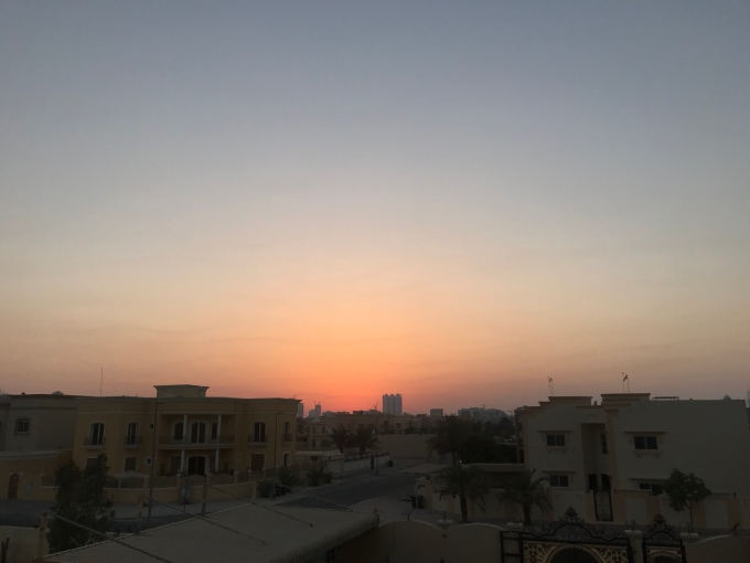 Sunset view from my home, Dubai