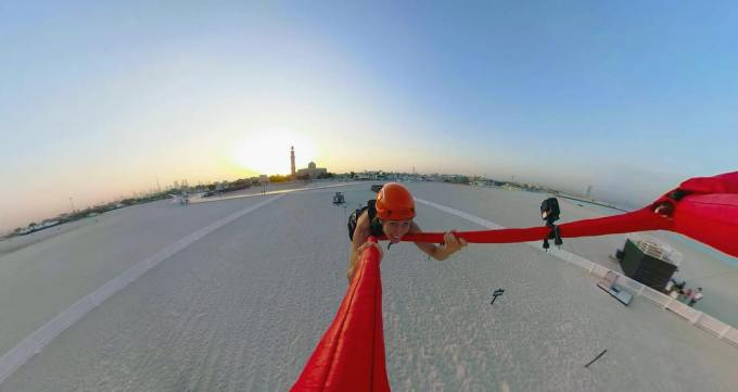 Arabian Peninsula's Fastest Human Slingshot Just Opened in Dubai